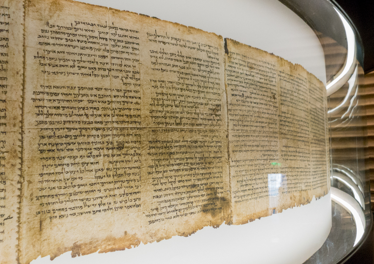a-close-up-of-the-isaiah-scroll-dating-from-the-second-century-bc-the-most-intact-of-the-dead-sea-scrolls-the-shrine-of-the-book-also-houses-the-aleppo-codex-dating-from-the-10th-cen